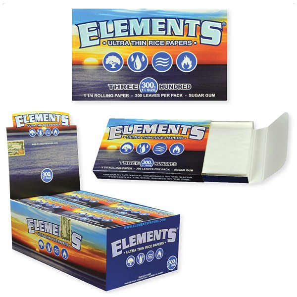 Elements 300 -Ultra Thin Rice Rolling Paper- 1 1/4