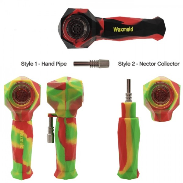 Waxmaid 2-IN-1 Silicone Hand Pipe & Nectar Collector.